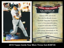 2010 Topps Cards Your Mom Threw Out #CMT45