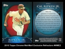 2010 Topps Chrome Wal-Mart Exclusive Refractors #WME2