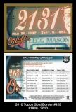 2010 Topps Gold Border #428