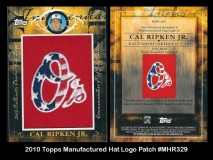 2010 Topps Manufactured Hat Logo Patch #MHR329