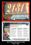 2010 Topps Red Border #428