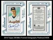 2010 Topps 206 Mini Framed Autographs Piedmont #CRI