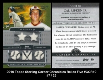 2010 Topps Sterling Career Chronicles Relics Five #CCR10