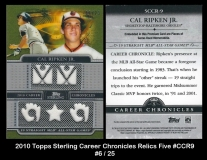 2010 Topps Sterling Career Chronicles Relics Five #CCR9