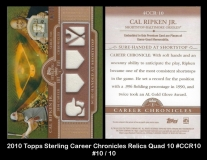 2010 Topps Sterling Career Chronicles Relics Quad 10 #CCR10