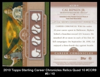 2010 Topps Sterling Career Chronicles Relics Quad 10 #CCR9