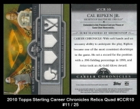 2010 Topps Sterling Career Chronicles Relics Quad #CCR10