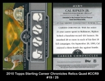 2010 Topps Sterling Career Chronicles Relics Quad #CCR9