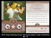 2010 Topps Sterling Career Chronicles Relics Triple 10 #CCR10