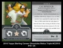 2010 Topps Sterling Career Chronicles Relics Triple #CCR10