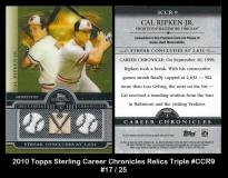 2010 Topps Sterling Career Chronicles Relics Triple #CCR9