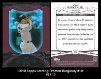 2010 Topps Sterling Framed Burgundy #10