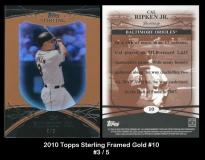 2010 Topps Sterling Framed Gold #10