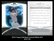 2010 Topps Sterling Framed White #10