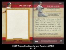 2010 Topps Sterling Jumbo Swatch #JSR6