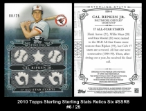 2010 Topps Sterling Sterling Stats Relics Six #SSR8