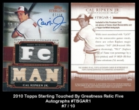 2010 Topps Sterling Touched By Greatness Relic Five Autographs #TBGAR1