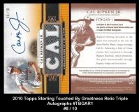 2010 Topps Sterling Touched By Greatness Relic Triple Autographs #TBGAR1