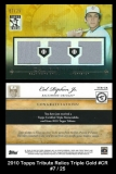 2010 Topps Tribute Triple Relics Gold #CR