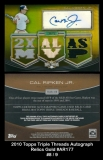 2010 Topps Triple Threads Autograph Relics Gold #AR177