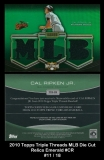 2010 Topps Triple Threads MLB Die Cut Relics Emerald #CR