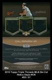 2010 Topps Triple Threads MLB Die Cut Relics Sepia #CR