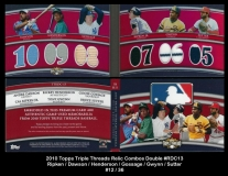 2010 Topps Triple Threads Relic Combos Double #RDC13