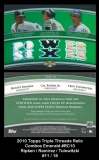 2010 Topps Triple Threads Relic Combos Emerald #RC10
