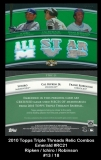2010 Topps Triple Threads Relic Combos Emerald #RC21