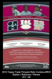 2010 Topps Triple Threads Relic Combos #RC5