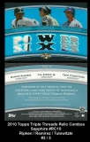 2010 Topps Triple Threads Relic Combos Sapphire #RC10