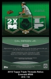 2010 Topps Triple Threads Relics Emerald #R86