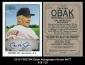 2010 TRISTAR Obak Autographs Green #A77