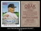 2010 TRISTAR Obak Autographs Red #A77