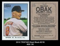 2010 TRISTAR Obak Black #21B