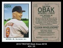 2010 TRISTAR Obak Green #21B