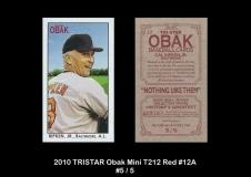 2010 TRISTAR Obak Mini T212 Red #12A