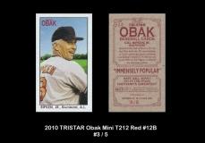 2010 TRISTAR Obak Mini T212 Red #12B