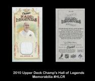2010 Upper Deck Champ's Hall of Legends Memorabilia #HLCR