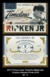 2011 Prime Cuts Timeline Materials Custom Names Prime #19