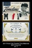 2011 Prime Cuts Timeline Trios Materials MVP Prime #19