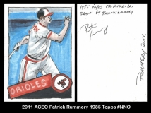 2011 ACEO Patrick Rummery 1985 Topps #NNO