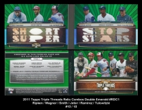 2011 Topps Triple Threads Relic Combos Double Emerald #RDC1