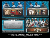 2011 Topps Triple Threads Relic Combos Double Sapphire #RDC1