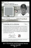 2011 ITG Heroes and Prospects Heroes Jerseys Gold #2