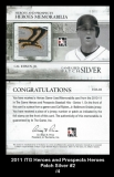 2011 ITG Heroes and Prospects Heroes Patch Silver #2