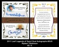 2011 Leaf Legends of Sport Dual Autographs #DU5
