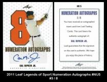 2011 Leaf Legends of Sport Numeration Autographs #NU5