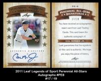 2011 Leaf Legends of Sport Perennial All-Stars Autographs #PE8