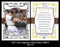 2011 Leaf Legends of Sport Silver #BA17